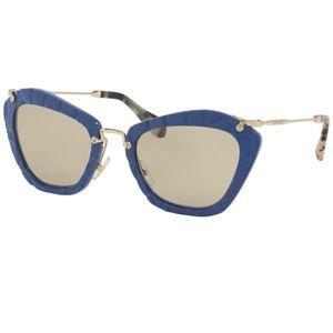 Miu Miu Sunglasses Noir Blue w/Light Brown Lens